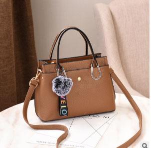 พร้อมส่ง กระเป๋าถือและสะพายข้างผู้หญิง แฟชั่นเกาหลี รหัส Yi-7103 สีกากีเข้ม 1 ใบ*แถมจี้ป๋อม