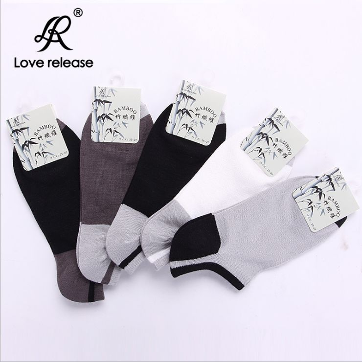 S575 **พร้อมส่ง** (ปลีก+ส่ง) ถุงเท้าเพื่อสุขภาพ ผลิตจากเส้นใยไผ่ (bamboo fiber) ข้อตาตุ่ม คละ5 สี มี 12 คู่ต่อแพ็ค เนื้อดี งานนำเข้า(Made in China)