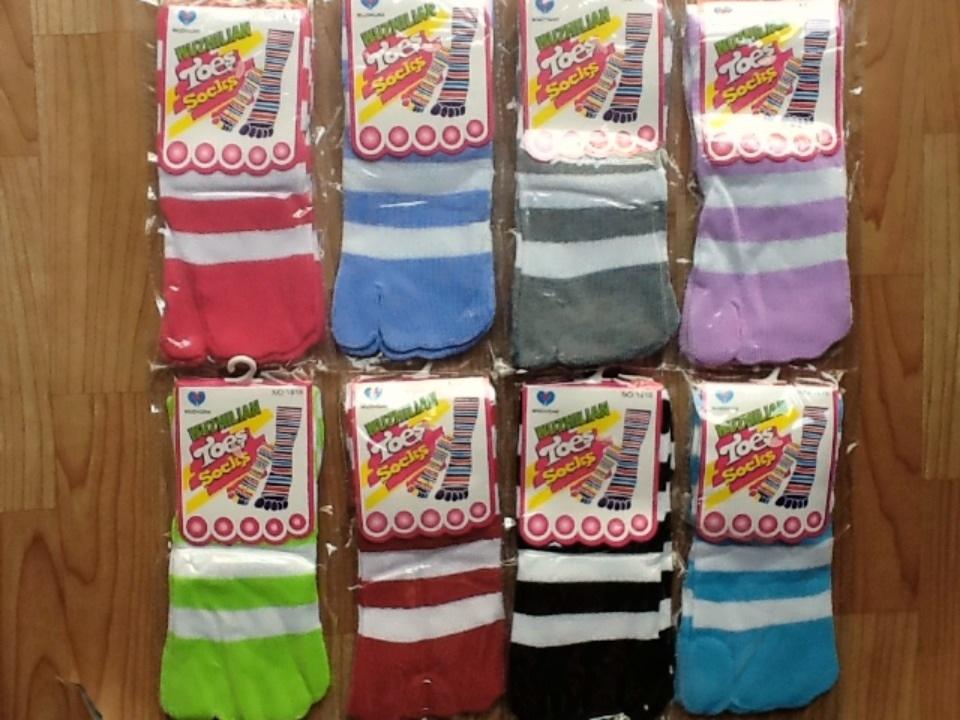 S021**พร้อมส่ง**(ปลีก+ส่ง) ถุงเท้า 2 นิ้ว มี 8 สี เนื้อดี งานนำเข้า (Made in China)