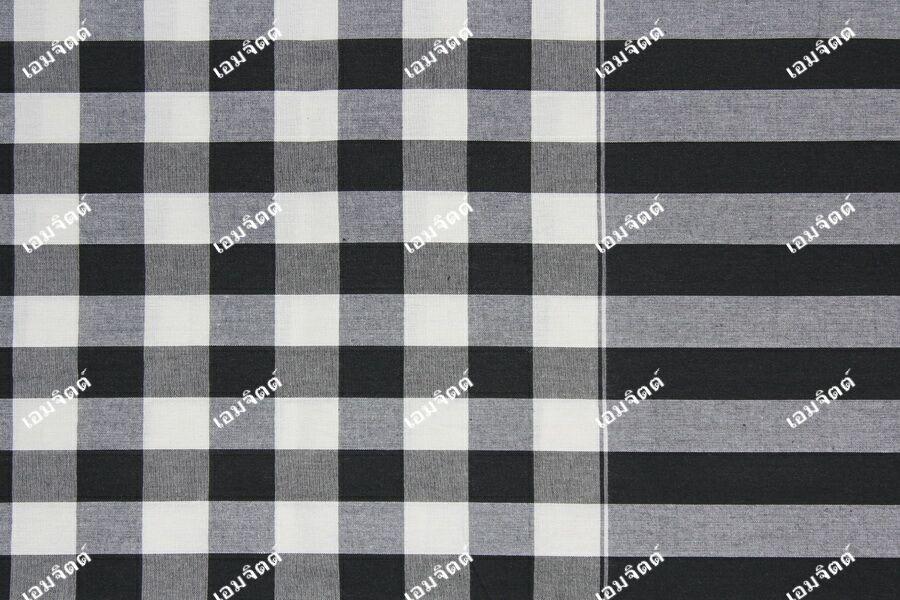 ผ้าขาวม้า TK025 ขาวดำ