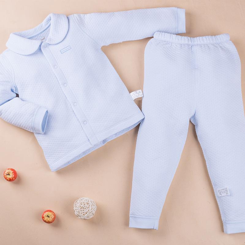 พร้อมส่ง เสื้อผ้าเด็กทารกแรกเกิด 0-1 ปี ราคาส่งจากโรงงาน ชุดกันหนาว 2 ชิ้น เสื้อแขนยาว+กางเกงขายาว รหัส T-13031 สีฟ้า 1 ชุด ไซร์ 90 (ส่วนสูง 90cm )