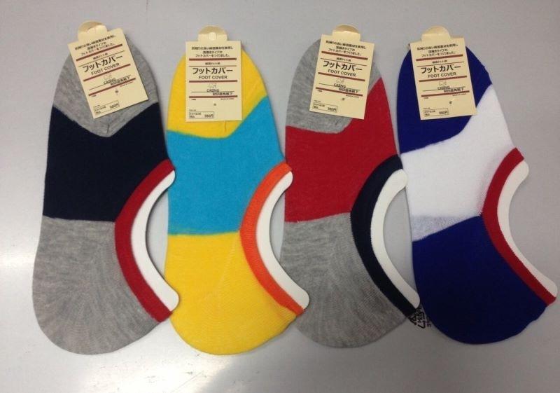 S594**พร้อมส่ง** (ปลีก+ส่ง) ถุงเท้าชาย แฟชั่นเกาหลี มีซิลิโคนกันหลุด มีลาย มี 12 คู่ต่อแพ็ค เนื้อดี งานนำเข้า(Made in China)
