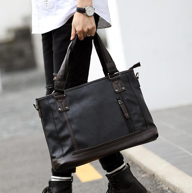 Pre-order กระเป๋าผู้ชายนักธุรกิจ ใส่เอกสาร ใส่คอมพิวเตอร์ 14 นิ้ว กระเป๋านักธุรกิจแฟขั่นเกาหลี รหัส Man-5009 สีดำ