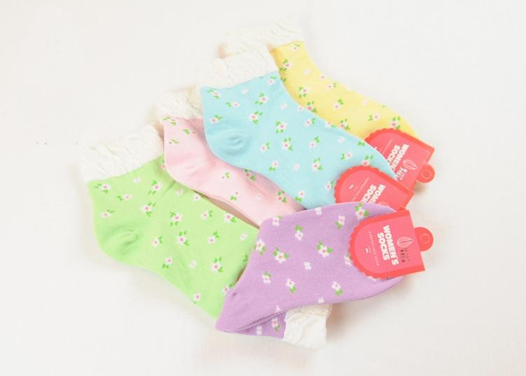 S331**พร้อมส่ง**(ปลีก+ส่ง) ถุงเท้าข้อสั้น แฟชั่นเกาหลี มี 12 คู่ต่อแพ็ค เนื้อดี งานนำเข้า(Made in China)