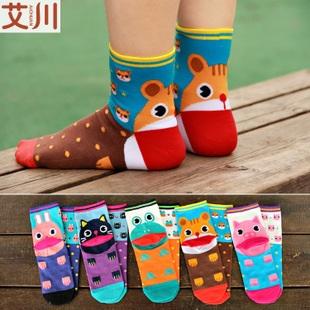 S285**พร้อมส่ง** (ปลีก+ส่ง) ถุงเท้าแฟชั่นเกาหลี ลายการ์ตูน ข้อยาว เนื้อดี งานนำเข้า(Made in China)