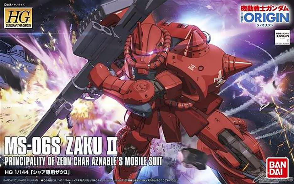 HG 1/144 Char Aznable Zaku II [Gundam The Origin]