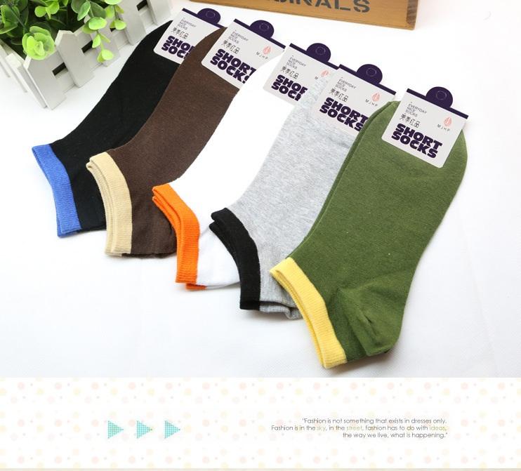 S355**พร้อมส่ง** (ปลีก+ส่ง) ถุงเท้าแฟชั่นเกาหลี ข้อสั้น ชาย คละ 5 สี มี 10 คู่ต่อแพ็ค เนื้อดี งานนำเข้า(Made in China)