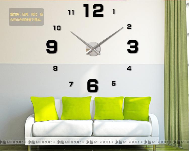 นาฬิกาDIY ขนาดจัมโบ้90cm สีดำ big3A