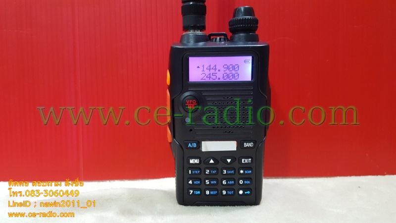 IC-UV999B เครื่อง2ย่าน VHF/CB สีดำ 136-174/240-260 MHz