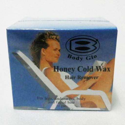 Body Glo Honey Cold Wax Hair Remover แว็กซ์ขี้ผึ้งเย็นกำจัดขน ใช้สะดวก 40 กรัม