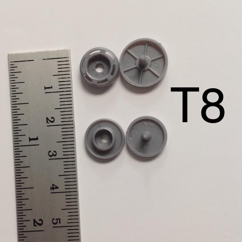 กระดุมแป๊กพลาสติก T8 plastic snap button T8