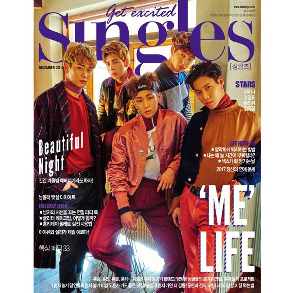 นิตยสาร Singles 2016.12 หน้าปก SHINee