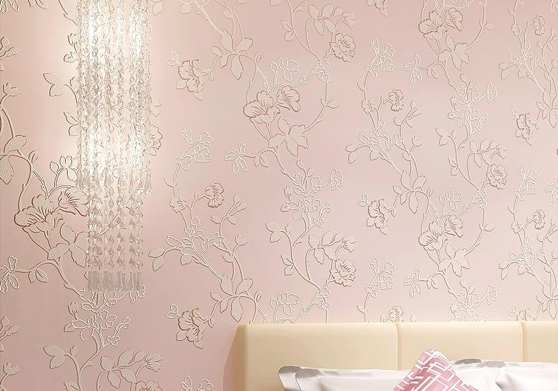 วอลเปเปอร์ลายดอกไม้เถาวัลย์ Wall-WE15 สีชมพู