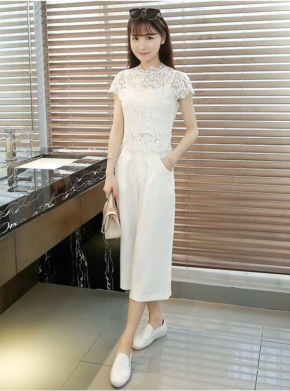 แฟชั่นเกาหลี set เสื้อ และกางเกงสวยมากๆ ครับ