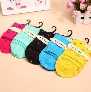 S338**พร้อมส่ง** (ปลีก+ส่ง) ถุงเท้าแฟชั่นเกาหลี ข้อยาว คละ 5 สี มี 10 คู่/แพ็ค เนื้อดี งานนำเข้า(Made in China)