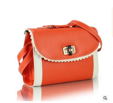 พร้อมส่ง กระเป๋าผู้หญิงถือสะพายไหล่และสะพายข้าง แฟชั่นสไตล์เกาหลี sunny-322 สีส้ม 1 ใบ