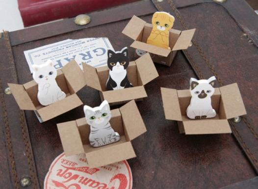 กระดาษโน๊ต-Cute Cat Notes Stickers