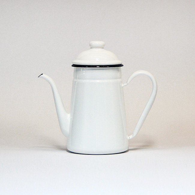 Vintage Enamel Tea Pot-1L (White)