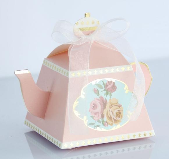 กล่องใส่ ลูกอม - ของชำร่วย - ทรงกาน้ำชา (6 ใบ)