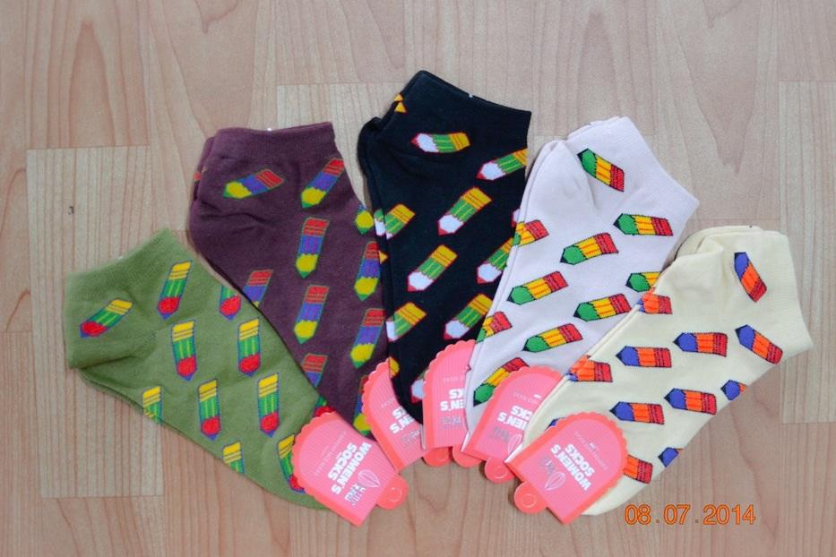 S222**พร้อมส่ง** (ปลีก+ส่ง) ถุงเท้าแฟชั่นเกาหลี ข้อสั้น คละ 5 สี เนื้อดี งานนำเข้า (Made in China)