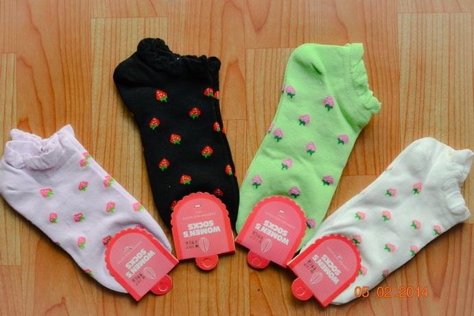 S145 **พร้อมส่ง** (ปลีก+ส่ง) ถุงเท้าแฟชั่นเกาหลี ข้อสั้น เนื้อดี งานนำเข้า(Made in China)