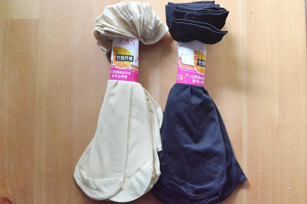 S591 **พร้อมส่ง** (ปลีก+ส่ง) ถุงเท้า เพื่อสุขภาพ ผลิตจากเส้นใยไม้ไผ่ ข้อยาว เนื้อถุงน่อง สีล้วน ไม่มีลาย มี 2 สี ,10 คู่ต่อแพ็ค เนื้อดี งานนำเข้า(Made in China)