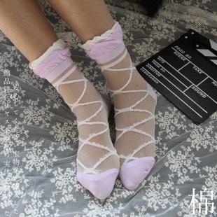 S244**พร้อมส่ง** (ปลีก+ส่ง) ถุงเท้าแฟชั่น สไตล์ ญี่ปุ่น ข้อยาว คละ 5 สี มี 12 คู่ต่อแพ็ค เนื้อดี งานนำเข้า(Made in China)