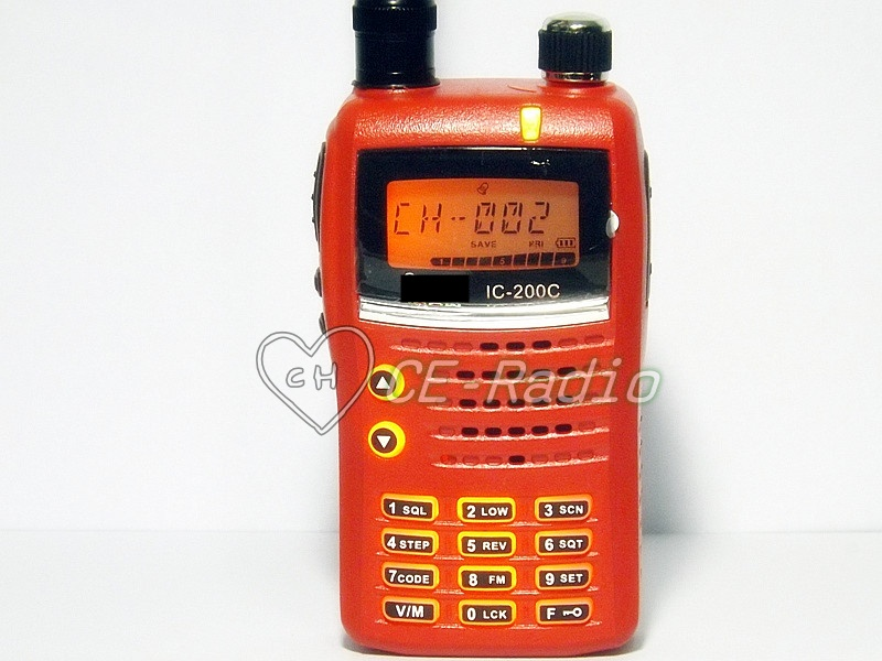 IC-200c วิทยุสื่อสารเครื่องแดง