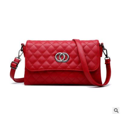 พร้อมส่ง กระเป๋าผู้หญิงใบเล็กสะพายไหล่และสะพายข้าง แฟชั่นสไตล์เกาหลี KO-5625 สีไวน์แดง 2 ใบ
