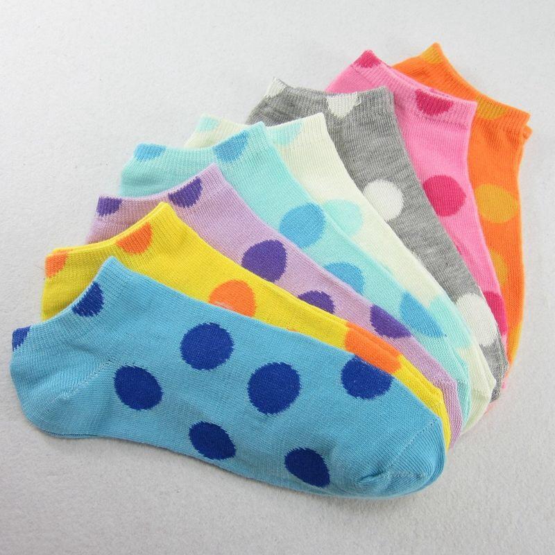 S346 **พร้อมส่ง** (ปลีก+ส่ง) ถุงเท้าแฟชั่นเกาหลี ข้อสั้น คละ 5 สี มี 12 คู่/แพ็ค เนื้อดี งานนำเข้า(Made in China)