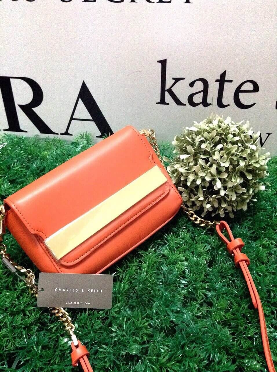 CHARLES&KEITH METAL DETAIL SLING BAG มี 2 สี