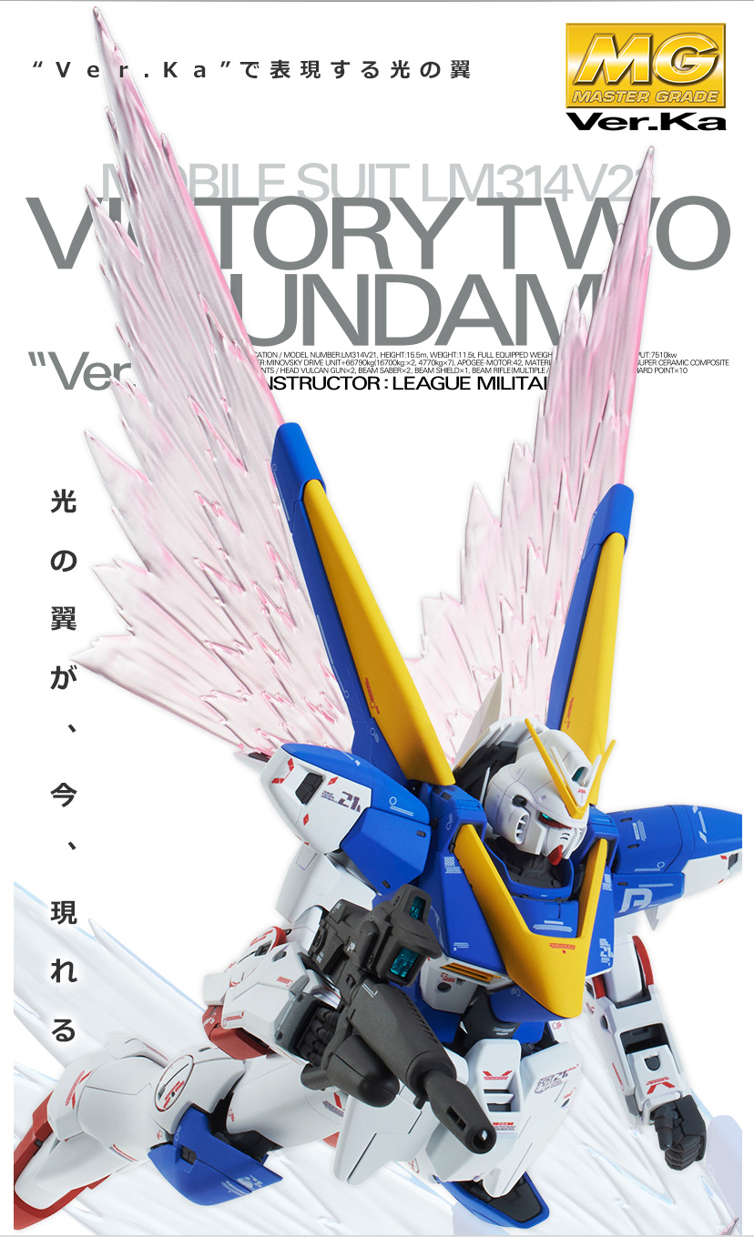 "[P-Bandai] MG 1/100 V2 Gundam Ver. Ka ""Wing of Light"" Effect Part Set"