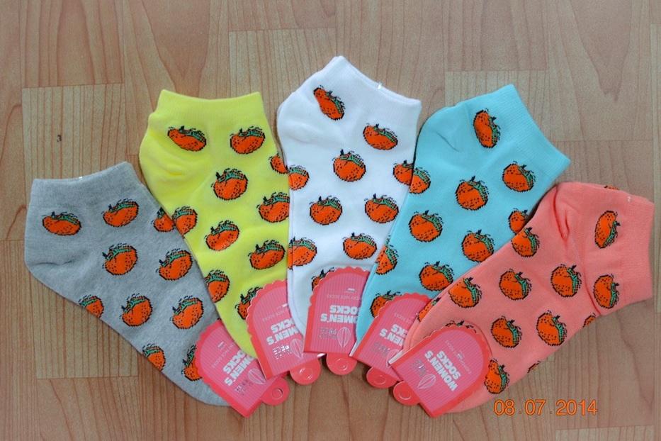 S221**พร้อมส่ง** (ปลีก+ส่ง) ถุงเท้าแฟชั่นเกาหลี ข้อสั้น คละ 5 สี เนื้อดี งานนำเข้า (Made in China)