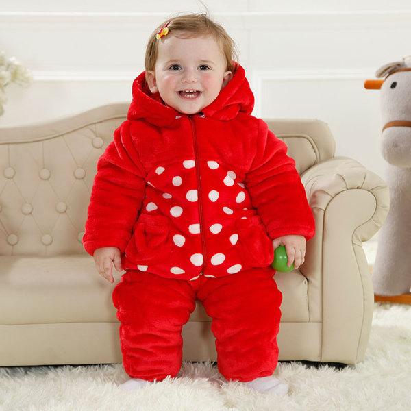 พร้อมส่ง เสื้อผ้าเด็กทารก เพศหญิง-ชาย 1-2-3 ปี ราคาส่งจากโรงงาน ชุดกันหนาว เสื้อแขนยาวมีหมวก ผ้าหนาอบอุ่น รหัส YH976 สีแดงลายเต่าทอง 2 ชุด ไซร์ 100 (ส่วนสูง 80-90 cm )