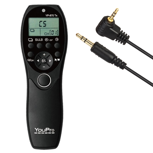 YouPro Wired Timer Remote YP-880/E3 for Canon 80D, 760D, 750D, 700D, 70D, 650D, 60D, 550D, 500D, 450D, 400D, 1100D, 100D