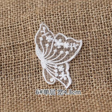 ตัวรีด รูปผีเสื้อ ปักบนผ้าแก้ว