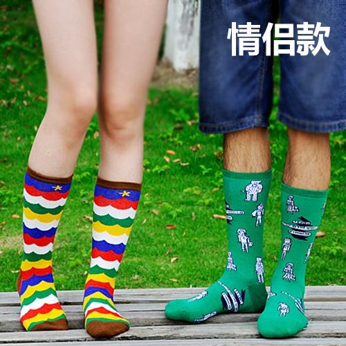 S250**พร้อมส่ง** (ปลีก+ส่ง) ถุงเท้าแฟชั่นเกาหลี ข้อยาว คละ 8 ลาย มี 12 คู่ต่อแพ็ค เนื้อดี งานนำเข้า(Made in China)