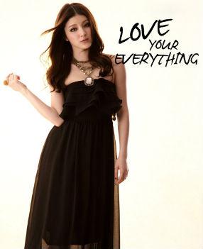 MAXI DRESS ชุดเดรสยาวเกาะอก สีดำ ผ้าชีฟอง สม็อกอก แต่งพริ้วโค้งเป็นชั้น เซ็กซี่ สามารถใส่ออกงานได้ สวยมากๆ จ้า THAISHOPONLINE (พร้อมส่ง)