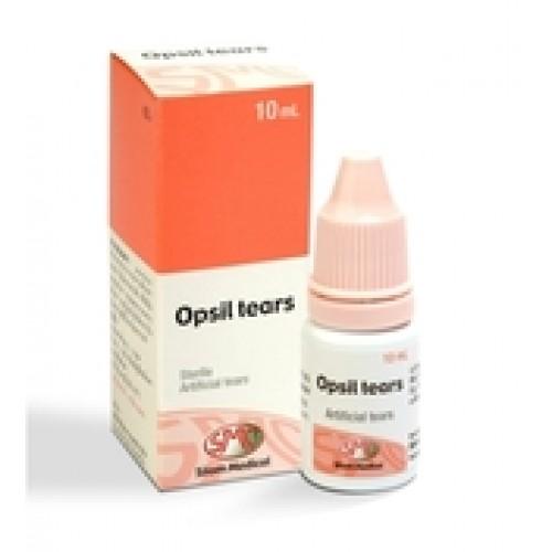 (ซื้อ3 ราคาพิเศษ) OPSIL TEAR น้ำตาเทียม 10 mL น้ำตาเทียมขวดเล็กชนิดพกพา ช่วยทำให้ตาชุ่มชื้น ไม่แสบเคือง