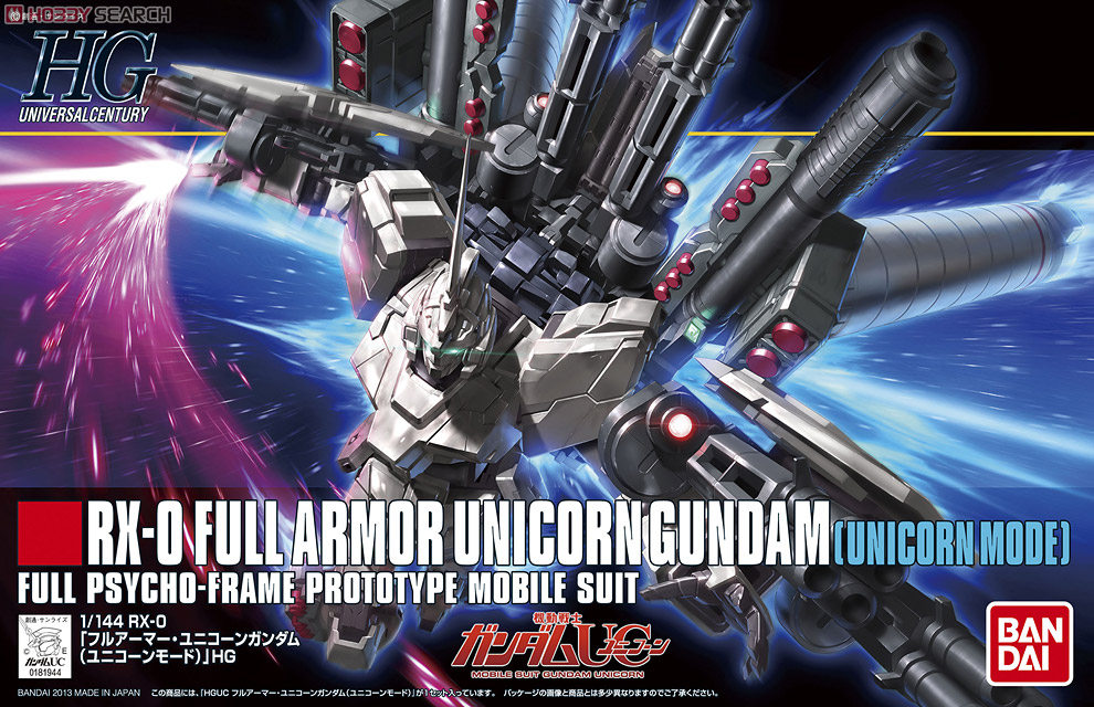 HGUC 1/144 Full Armor Unicorn Gundam (Unicorn Mode)
