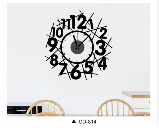 นาฬิกาพร้อมสติกเกอร์ CD814