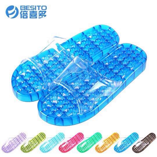 K012 **พร้อมส่ง** (ปลีก+ส่ง) รองเท้านวดสปา เพื่อสุขภาพ ปุ่มเล็ก (ใส) มี 7 สี ส่งคู่ละ 80 บ.