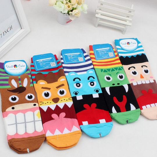S102**พร้อมส่ง** (ปลีก+ส่ง) ถุงเท้าแฟชั่นเกาหลี ข้อยาว เนื้อดี งานนำเข้า(Made in china)