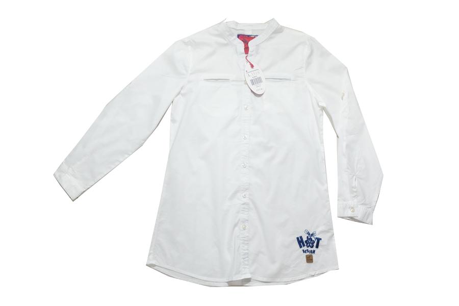 ( 1078 L ) เสื้อเชิ้ตหญิงผ้าคอตตอน