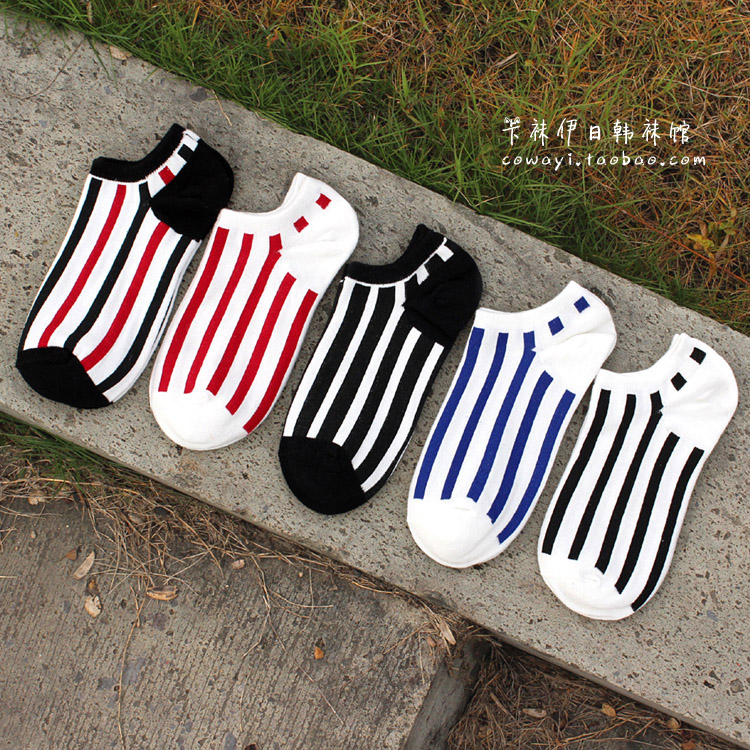 S566 **พร้อมส่ง** (ปลีก+ส่ง) ถุงเท้าแฟชั่น ข้อตาตุ่ม คละ5 สี มี 10 คู่ต่อแพ็ค เนื้อดี งานนำเข้า