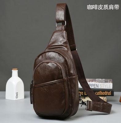 Pre-order ขายส่ง กระเป๋าหนังกันน้ำ ผู้ชายคาดไหล่ แฟขั่นเกาหลี รหัส Man-6704 สีน้ำตาล
