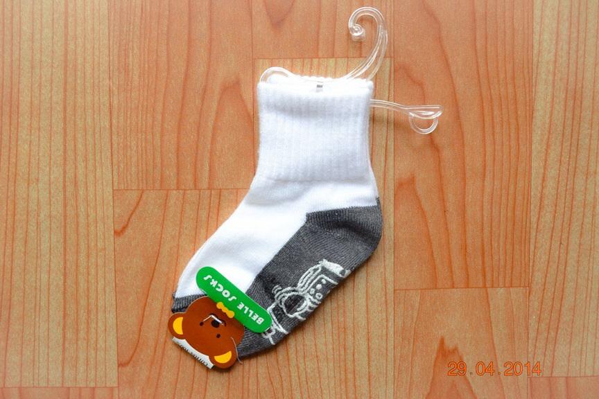 U036**พร้อมส่ง** (ปลีก+ส่ง) ถุงเท้านักเรียน พื้นเทา มีกันลื่น 5 ไซด์ เนื้อดี งานไทย ( Made in Thailand)