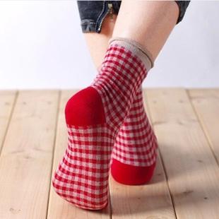S239**พร้อมส่ง** (ปลีก+ส่ง) ถุงเท้าแฟชั่น สไตล์ ญี่ปุ่น ข้อยาว ขอบม้วน คละ 4 สี มี 10 คู่ต่อแพ็ค เนื้อดี งานนำเข้า(Made in China)