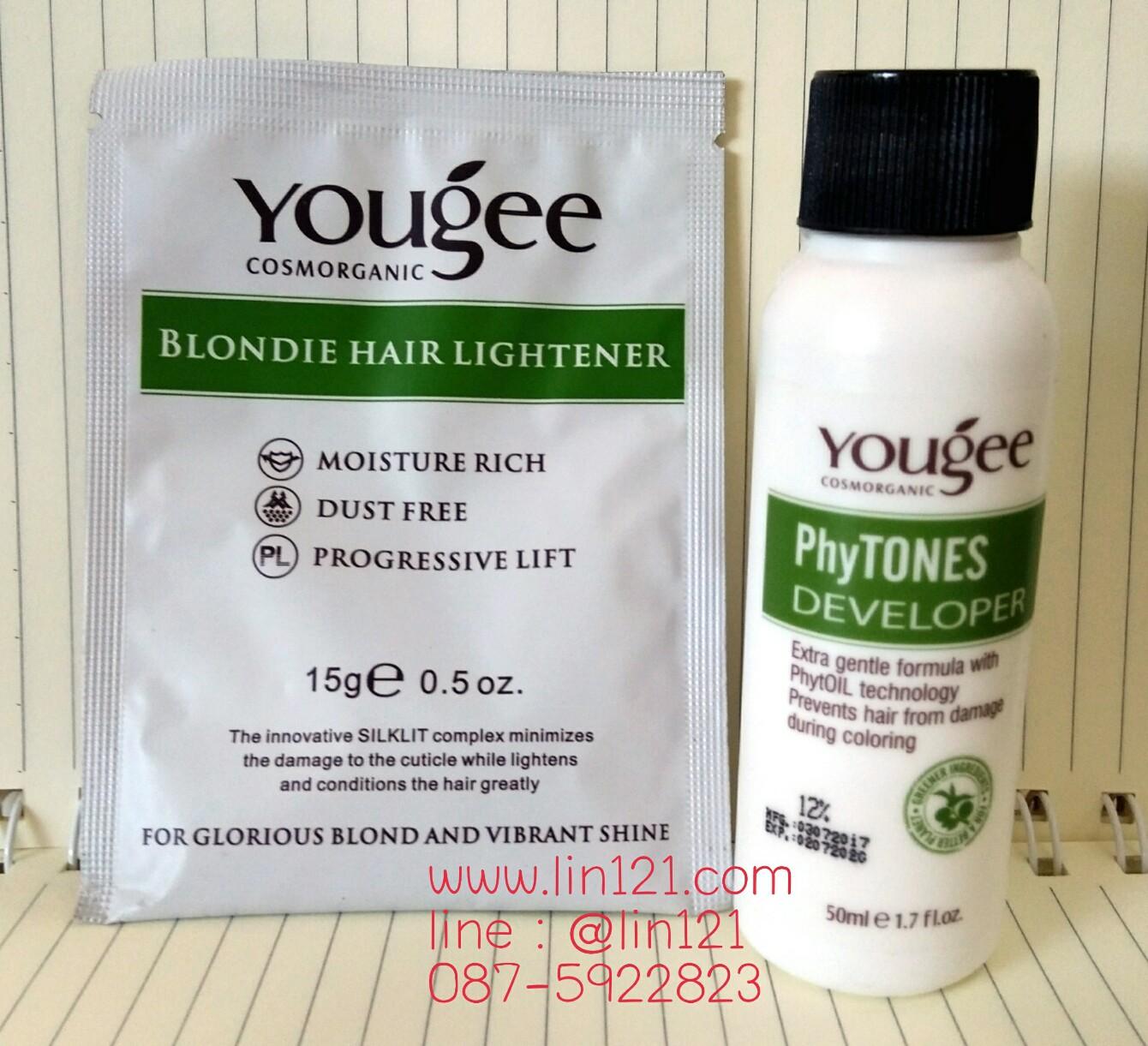 Yougee Blondie Hair Lightener ยูจี ชุดฟอกสีผม 15g+50ml