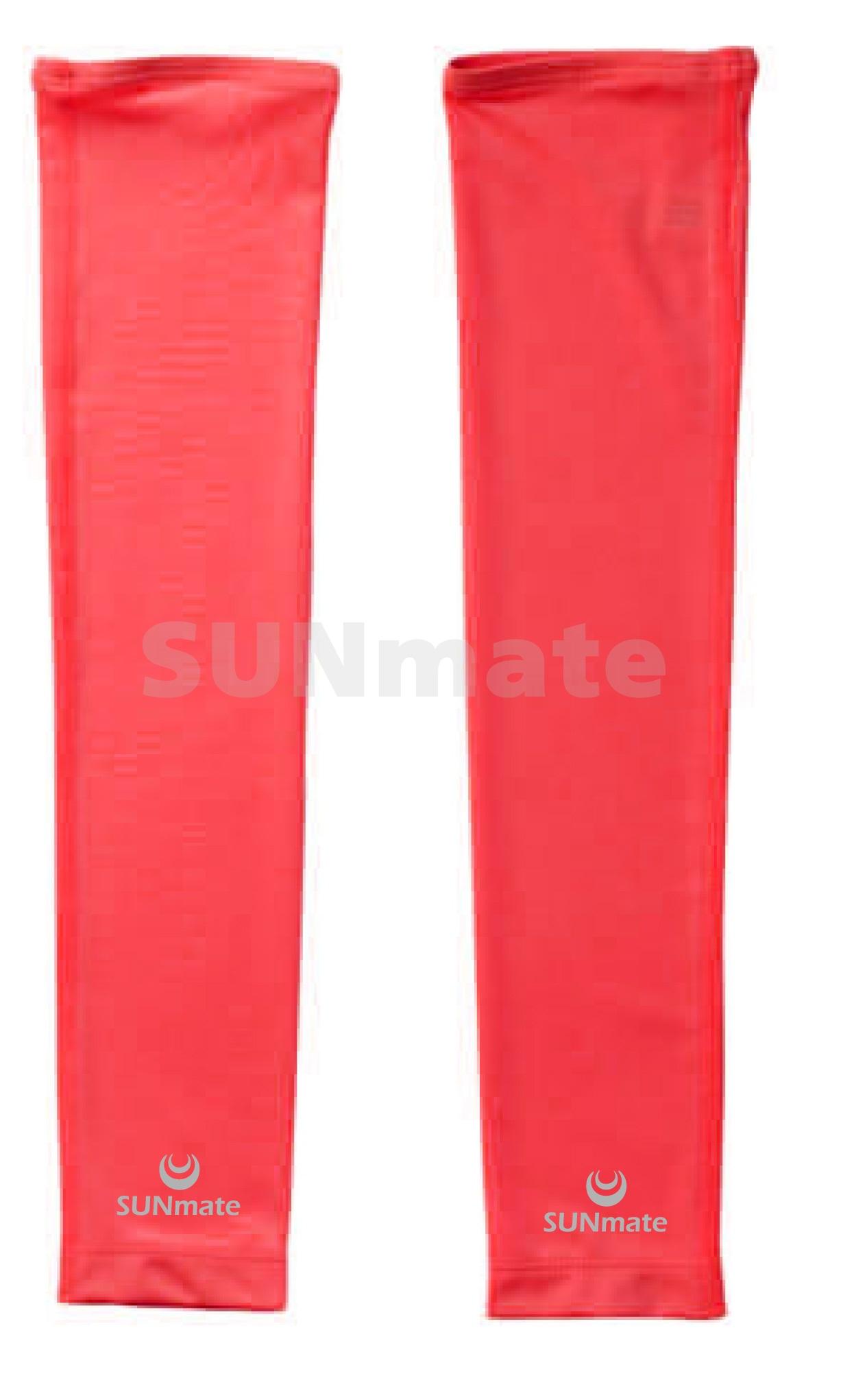 ปลอกแขนกัน UV size M : Red scarlet